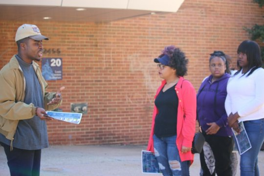 Girl Scouts Beyond Bars Troop on a college tour
