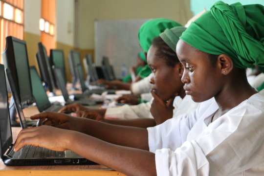 School Girls during Kuje ICT Training