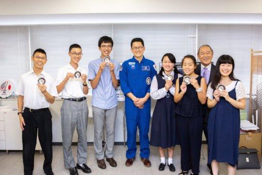 Visiting Ambassador Fujisaki and Astronaut Kanai