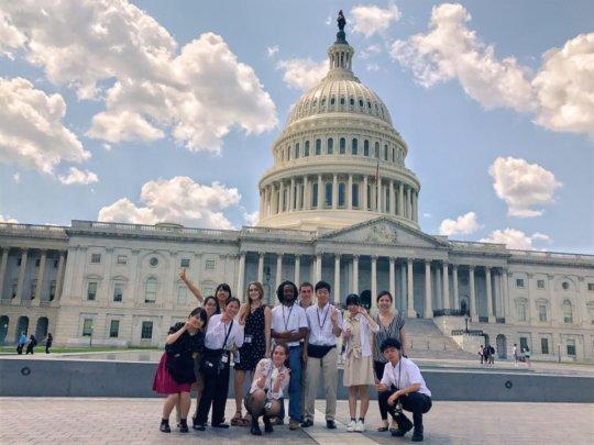 Students visit the U.S. Capitol