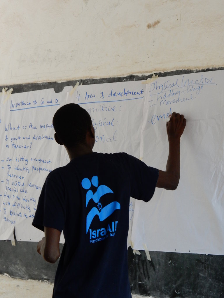 Academic schooling in a refugee camp in Kenya.