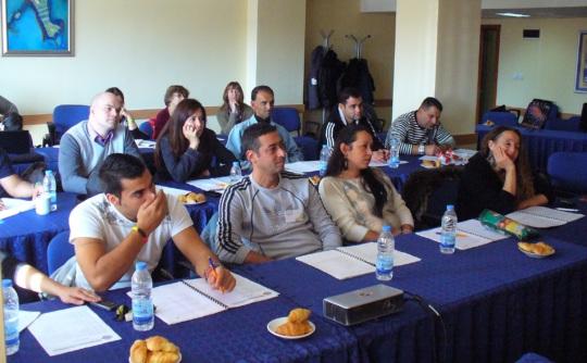 A class of 15 Bulgarians.