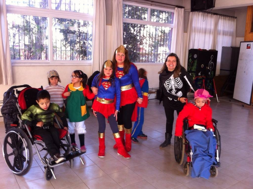 Send 25 multidisabled students to school in Chile