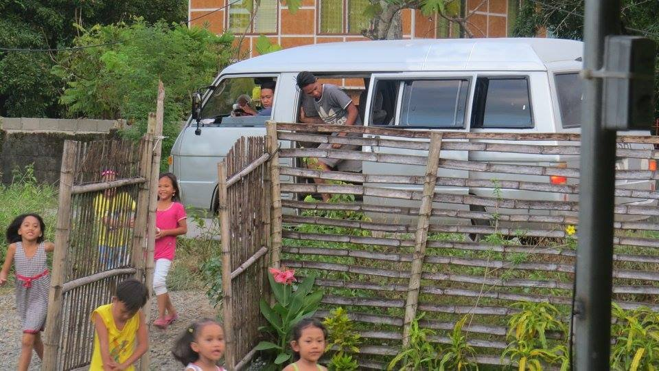 Kids running to the Feeding Location