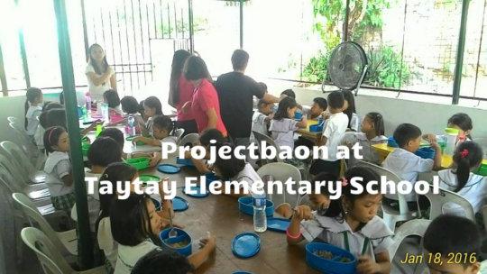#ProjectBaon Taytay Elem School