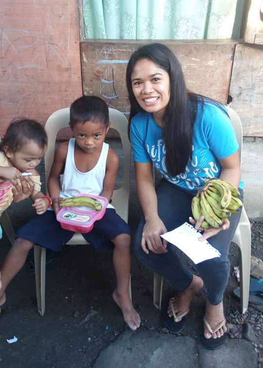 Wheng our Tacloban feeding coordinator