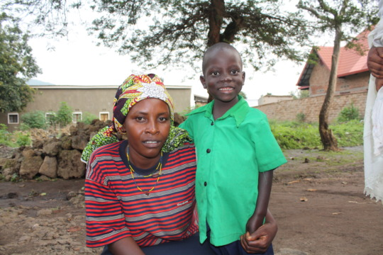 Mugisha and his aunt, Tuyishime.