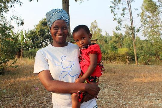 Olive Murikatete and her daughter Muhirwa