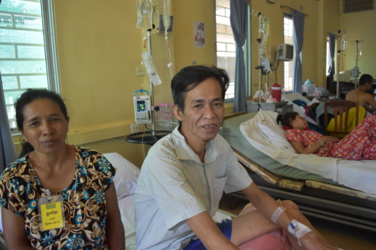 Koemly and his wife in the medical ward