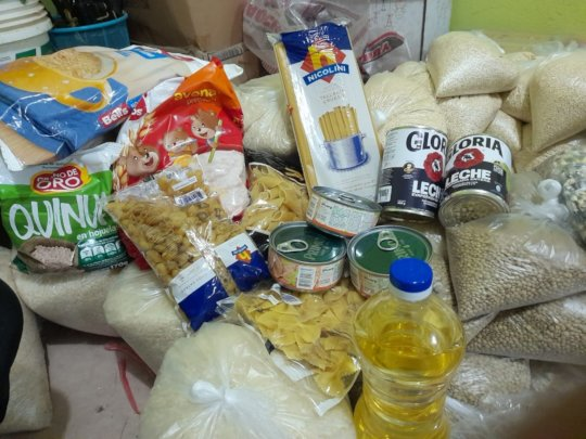 Example of the food delivered in the baskets