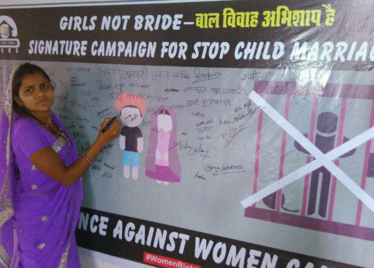 signature campaign for stop child marriage