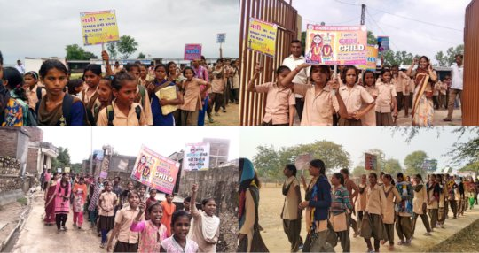 Her Voice Campaign with School Girl