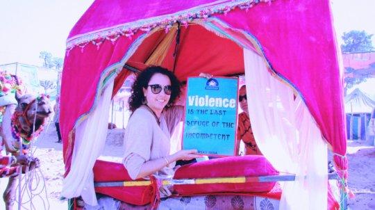 tourist appeal ''stop violence against women'