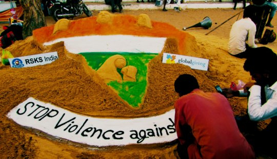 sand art * make a difference and stop the violence