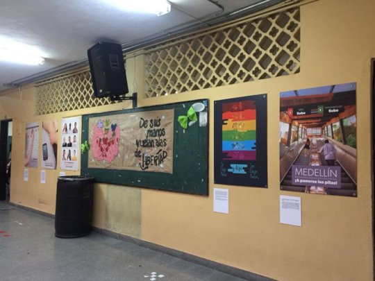 The exhibition in one of the classrooms
