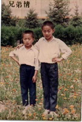 Felix, aged 11, with his older brother