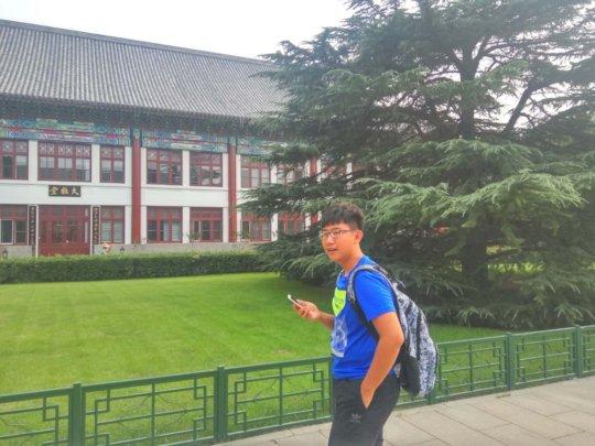 Haitao on Campus at Beijing University