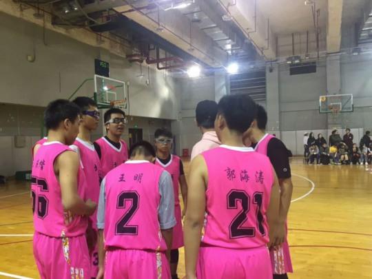 Haitao (right) and His Basketball Team