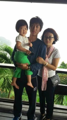 Xiaojie and her family in Beijing, 2015
