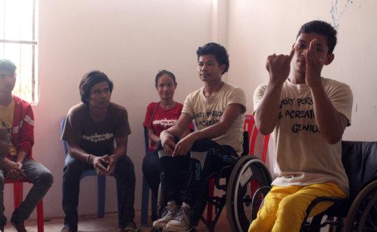 Arts Team deliver their presentation