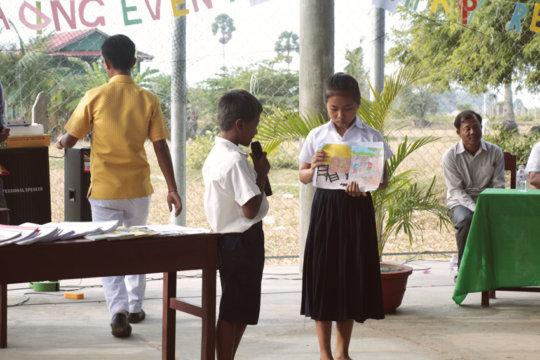 students showcase their artwork