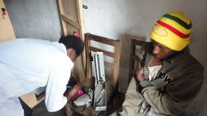 Bafmen Fulani Community member with lab technician