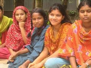 Girls at a Safe Space meeting in Bangladesh