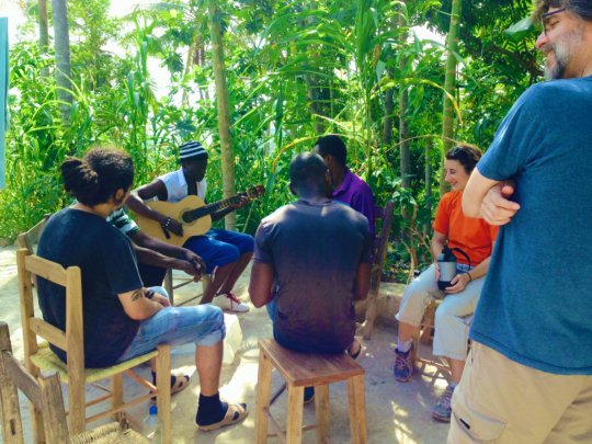 Music making during the cultural exchange trip