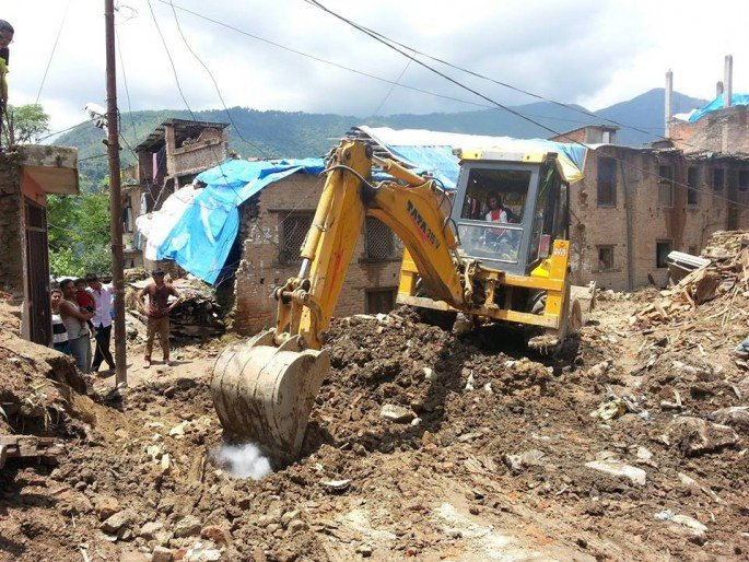 Debris Cleaning at communal area
