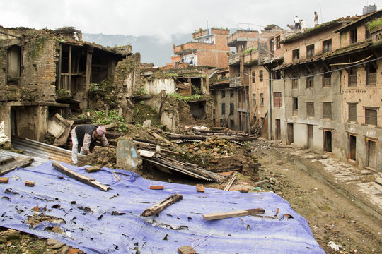 Broken houses of Khokana