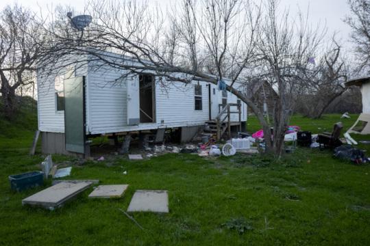 Property damaged by floods on the RCREC