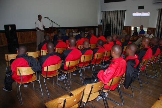 End of year graduation of inmates.