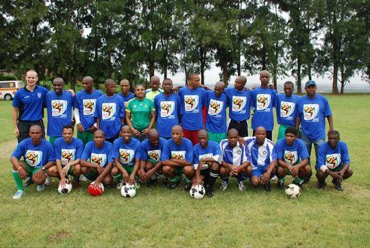Westville Prisoners after Soccer Clnic