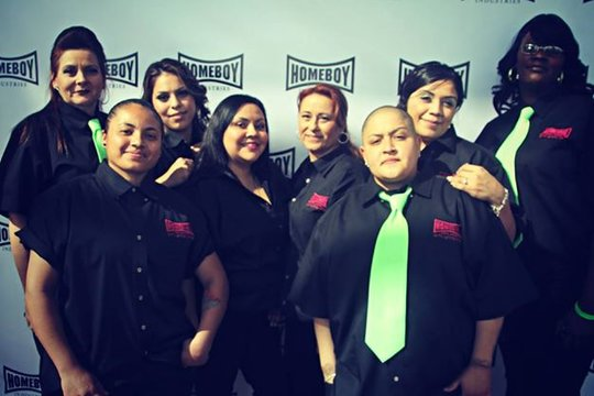 Homegirl Cafe workers at last year