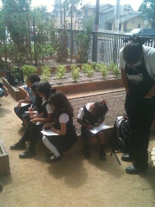 Homegirls lead gardening class at Dolores Mission