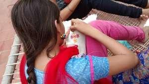 Nisha translates her ideas into Suf embroidery