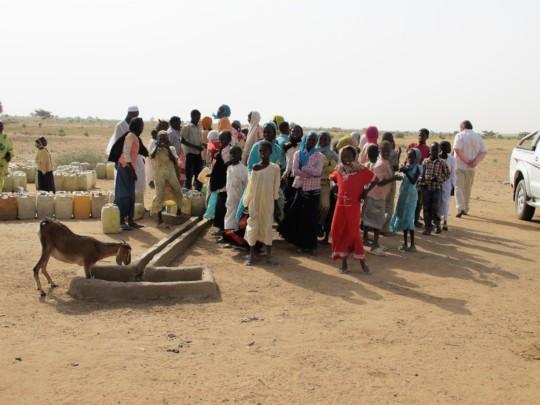 Village at the water pump
