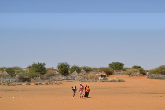 Village in the desert