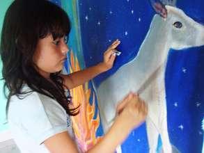 Estrella paints a peseki0ia, sacred animal