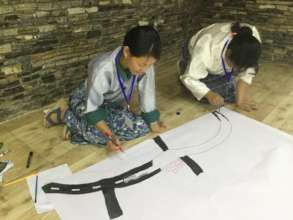 Teachers mapping their communities in Paro