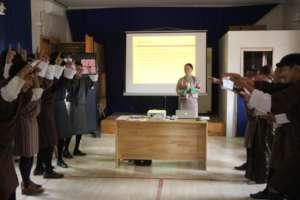 3. Peer facilitators learn skills to entertain.