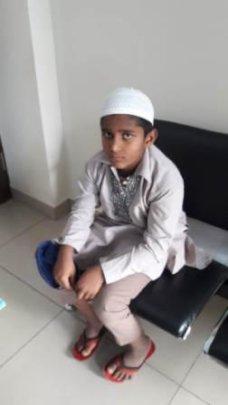 11 yr old boy with retinal problem