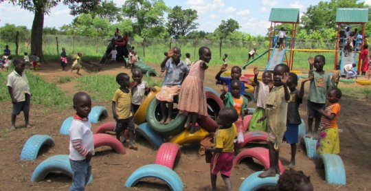School playground - ground to be leveled & planted