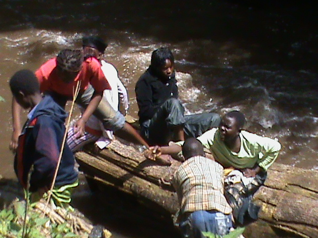 girls adventure at nzoia river