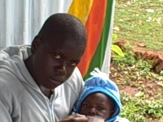 Feeding a kid on nutritious porridge