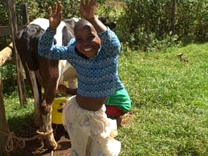 Ms wangui happy after cow calved meaning more milk