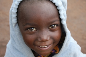 Warm clothes for this little kid. your donation continues to off