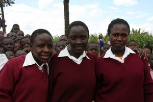 These three girls from right, Rebecca,Eunice and Mary are back t
