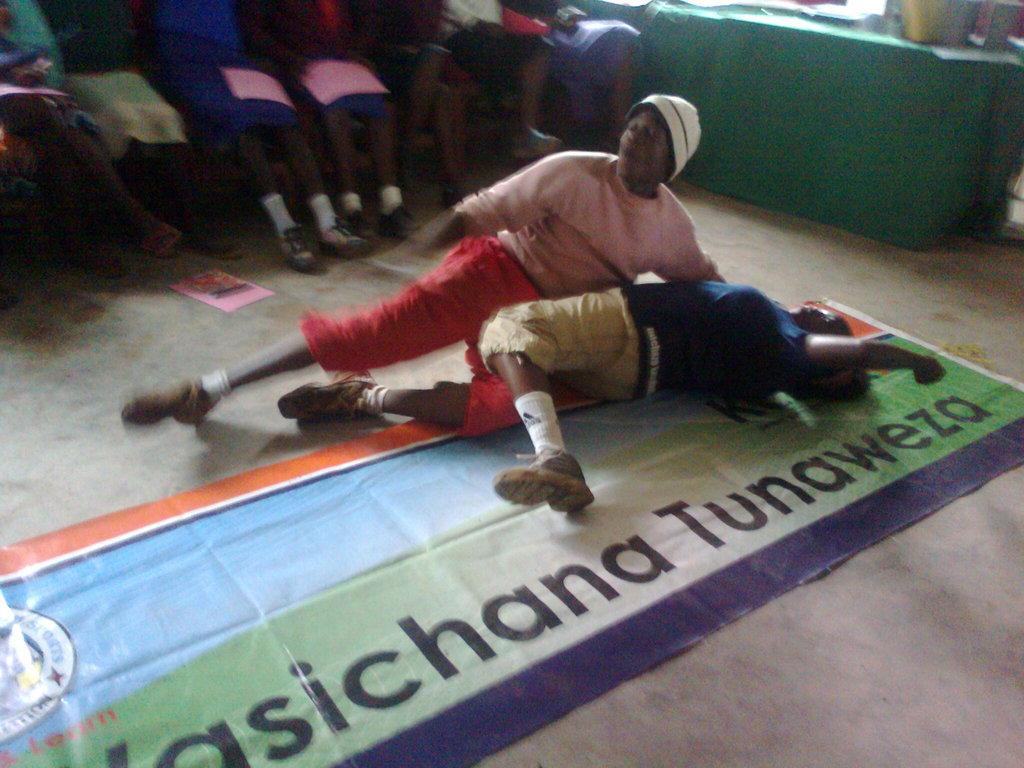 Girls learn self defence in case of rape