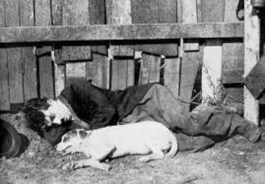 Charlie Chaplin taking a break.